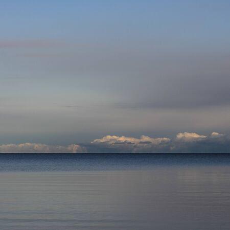 Clouds over Lake Vanern, largest lake of Sweden.