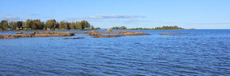 Landscape at the shore of Lake Vanern, Sweden.
