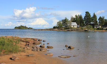 Shore of Lake Vanern, view from Vita Sannar, Sweden.