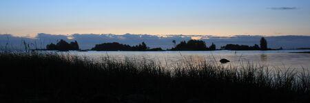 Early morning at the shore of Lake Vanern. Standard-Bild