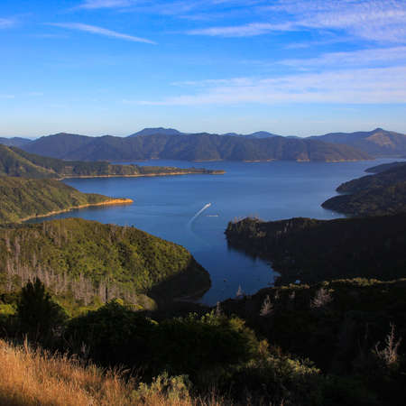 Endeavor Inlet, bay in the Queen Charlotte Sound. New Zealand.