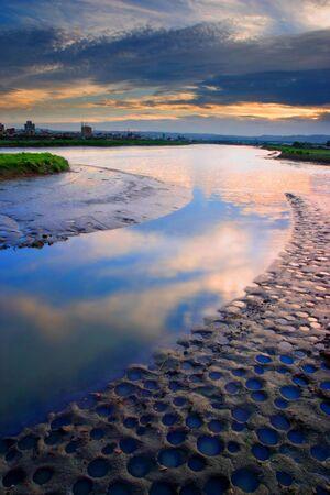 river sunset