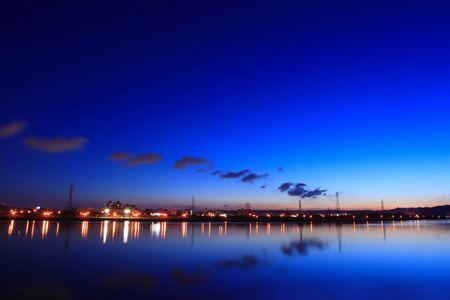 night scene and rivers