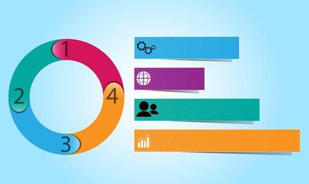 tabular: Image infographic on light blue background: circular, tabular.