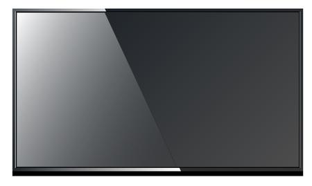 sleek: Sleek modern black TV with the narrow limits Illustration