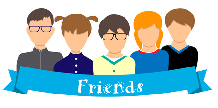 The image of people who are presented as a Friends Illustration