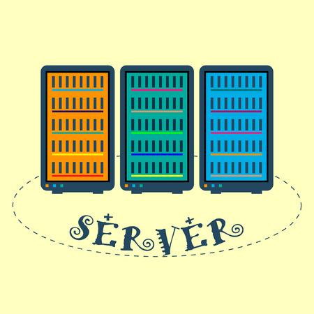 colour image: Flat image server hardware. Colour.
