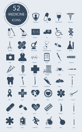 Medical icons. Number of icons Illustration