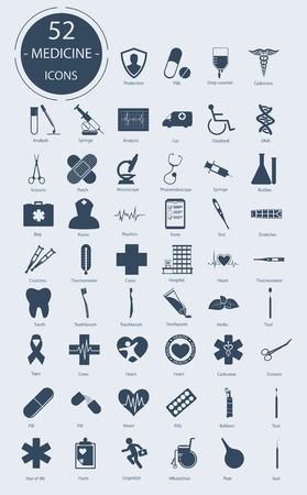Medizinische Symbole. Anzahl der Symbole