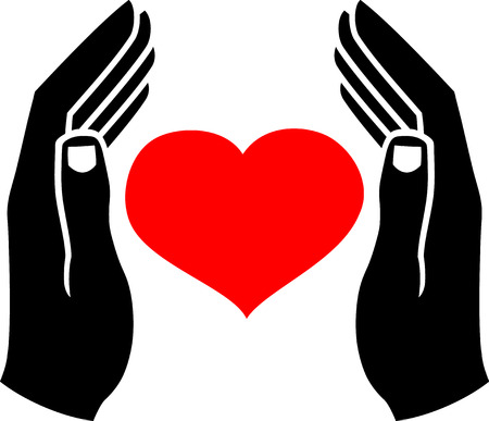 retain: Human hands, which protect the heart.