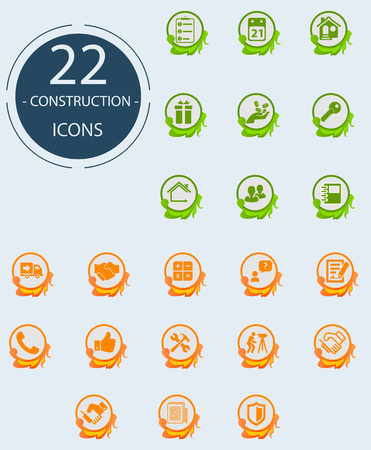 Set of icons on a theme construction Illustration