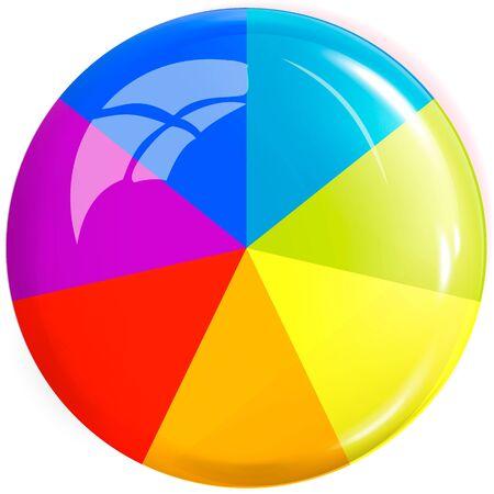 Colored button. Design element. Icon