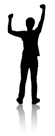 Silhouette of man, which is something raises