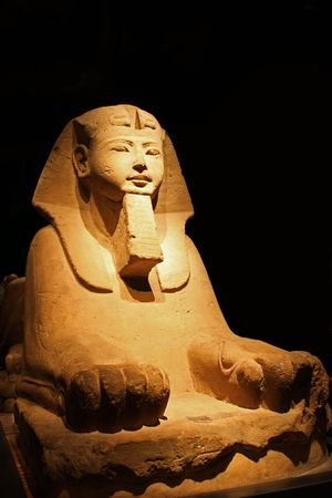 Egyptian statue in the Museo Egizio, in Turin, Italy. photo