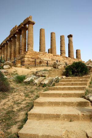 Temple of Magna Grecia, Valle dei Templi, Sicilia, Italia Stock Photo