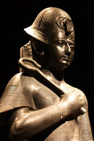 Egyptian statue in the Museo Egizio, in Turin, Italy. This museum is specialising in Egyptian archaelogy and anthropology. It houses the worlds largest and most comprehensive collection of Egyptian antiquities outside the Egyptian Museum in Cairo photo