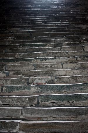 Steps in Sacra di San Michele, Italy: old monastery photo