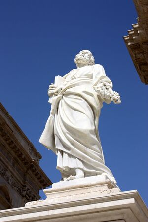saint peter: Saint Peter statue in Siracusa, Italy Stock Photo