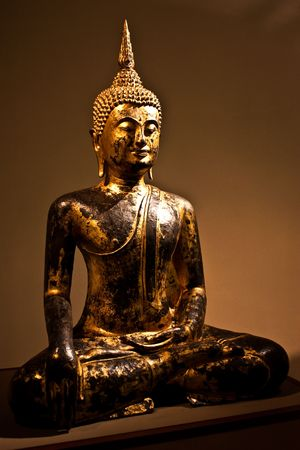 Detail of a Sitting Bodhisattva, 2nd century A.C. - crop composed to be used as icon Stock Photo - 7207820