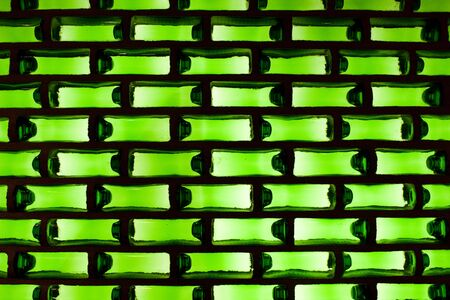 Background: green glass with a light from the back. photo
