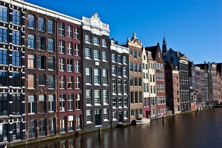 Amsterdam canal view, close to the center of the city photo
