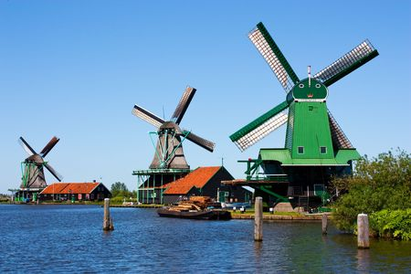 historical landmark: Mills in Holland, traditional and direct landmark of the country
