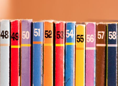 Numbers on colored background, part of a comics collection Stock Photo - 7947988
