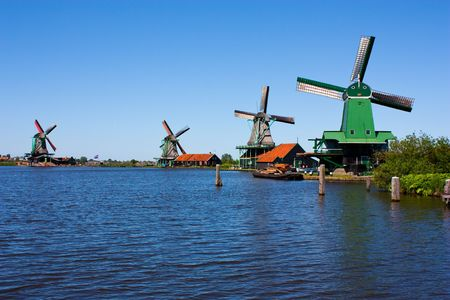 windy energy: Mills in Holland, traditional and direct landmark of the country