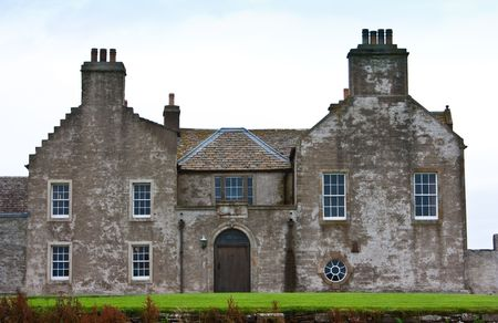 Traditional English mansion in Scotland, Shuterland, approximative 200 years old photo