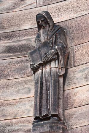 Statue of Christian monk in Edimburgh castle - Scotland Stock Photo - 8098016