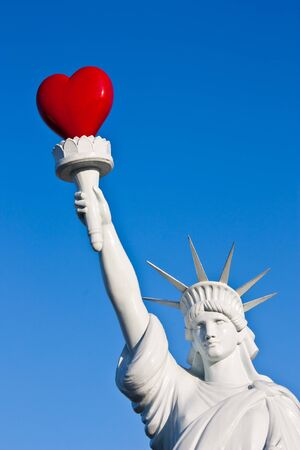 A different way to see love freedom: useful for concepts photo