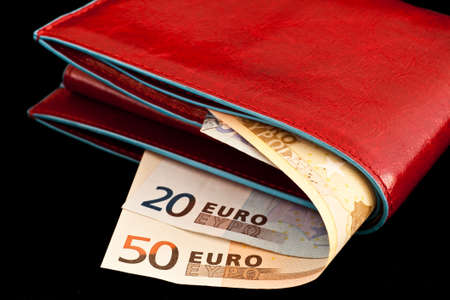 Italian leather wallet with money, useful for concepts Stock Photo - 8758918