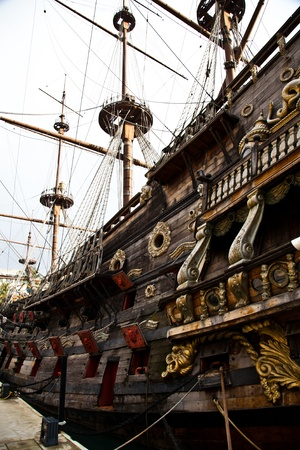 Detail of Neptune Galleon photo