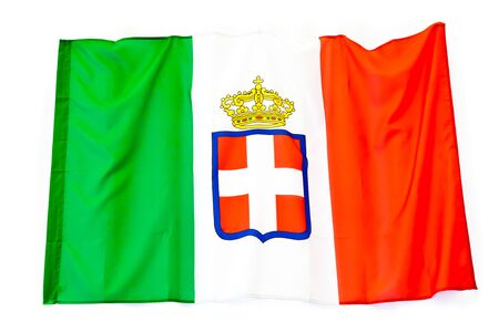 Variant flag of the Kingdom of Italy, adopted from 1861, Savoy Royal Family photo