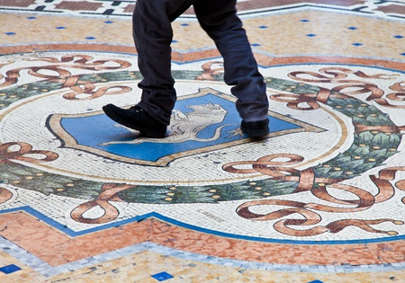 testicles: Italy, Milan. The Milanese tradition that is saying that if you turn quickly 3 times on your heel over the bulls testicles you attract good luck