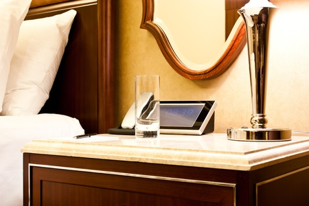 New York, interior of a luxury Hotel photo