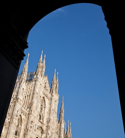 The Gothic cathedral took nearly six centuries to complete. It is the fourth largest cathedral in the world and by far the largest in Italy. Stock Photo - 9886688