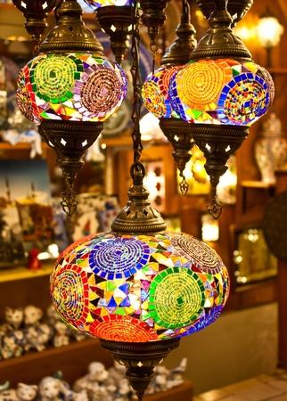 night market: Traditional Arabic lantern