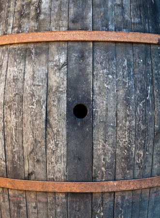 wine stocks: Old barrel made of wood used for Italian wine production