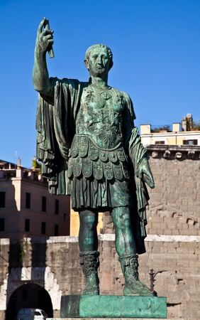 supremacy: Gaius Julius Caesar (13 July 100 BC - 15 March 44 BC) was a Roman general and statesman. Useful for leadership concepts. Stock Photo