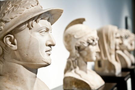Statue collection of classical model, Naples, Italy photo