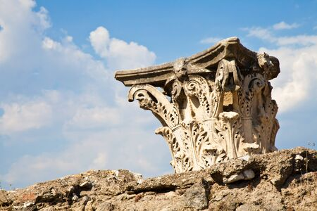 Detail of Pompeii site. The city of was destroyed and completely buried during a long catastrophic eruption of the volcano Mount Vesuvius Stock Photo - 11273436