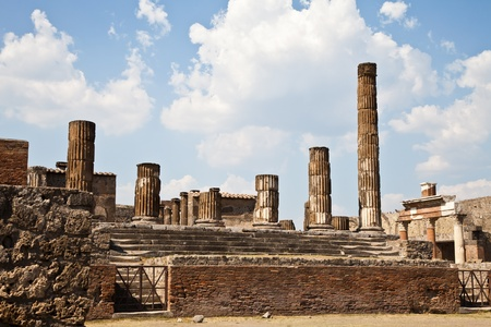 Detail of Pompeii site. The city of was destroyed and completely buried during a long catastrophic eruption of the volcano Mount Vesuvius Stock Photo - 11534092