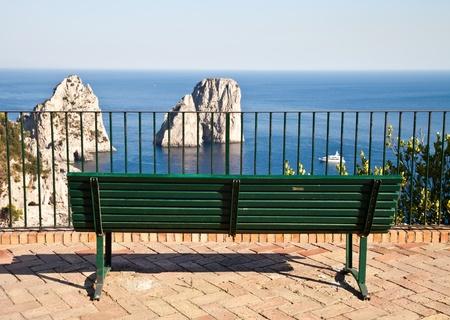 Summertime at Capri, beautiful isle in Naples Gulf, Italy photo