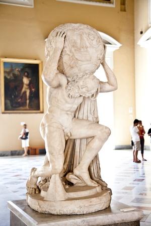 Atlas: 2dn Jahrhundert n. Chr. Kopie von Atlante Farnese Statue