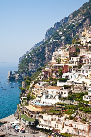 Positano is a village and comune on the Amalfi Coast (Costiera Amalfitana), in Campania, Italy. Stock Photo - 11581438