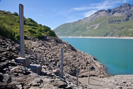 Moncenisio dam, ItalyFrance border. Meter used to measure the level of water.