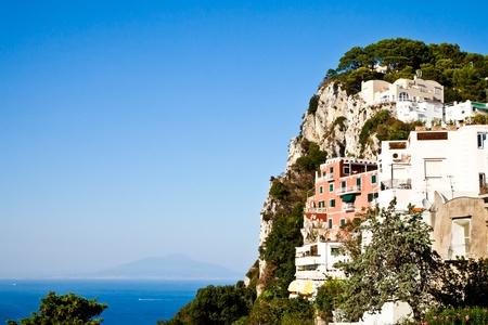 Capri isle (Naples gulf - Italy): view of the vesuvius volcano photo