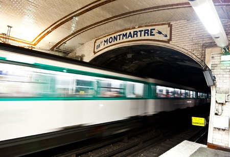 One of the oldest metro station in Europe - Paris underground Stock Photo - 12073830