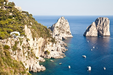 Summertime at Capri, beautiful isle in Naples Gulf, Italy photo